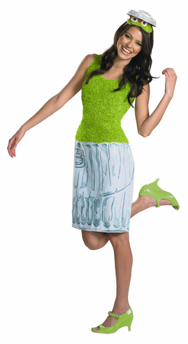 OSCAR SESAME STREET LADIES COSTUME