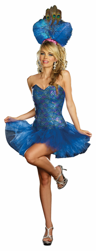 PEACOCK ENVY ADULT COSTUME