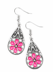 Pink Countryside Cottage Earrings