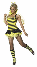 QUEEN BUMBLE BEE SEXY ADULT 4 PC COSTUME