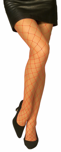 Red Diamond Net Adult Tights