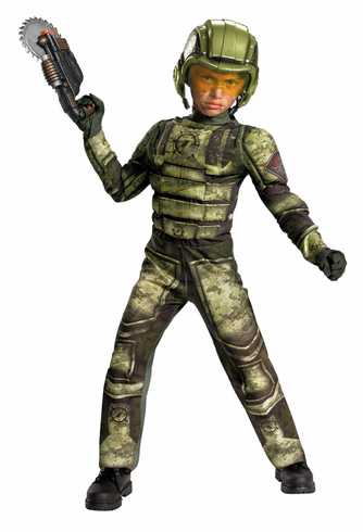 RED SECTOR FOOT SOLDIER MUSCLE CHILD COSTUME