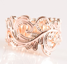 Rose Gold The World Is Vine Ring