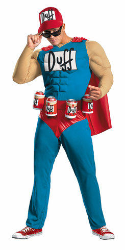 SIMPSONS DUFFMAN MUSCLE ADULT COSTUME