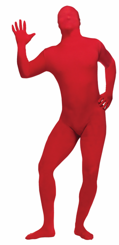 SKIN SUIT RED ADULT COSTUME