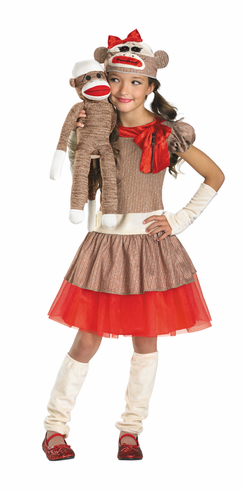 SOCK MONKEY GIRL CHILD COSTUME