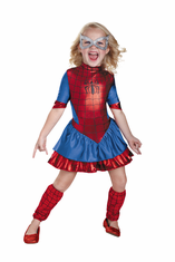 SPIDERGIRL DELUXE TODDLER COSTUME 3T-4T