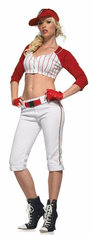 STAR PLAYER RED WHITE ADULT COSTUME