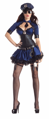 SULTRY OFFICER BODY SHAPER ADULT COSTUME