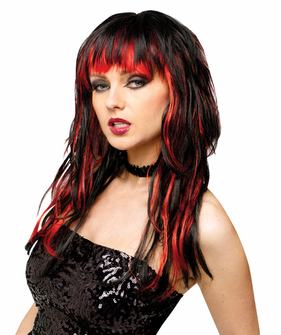 WIG TEMPTRESS WIG BLK/RED