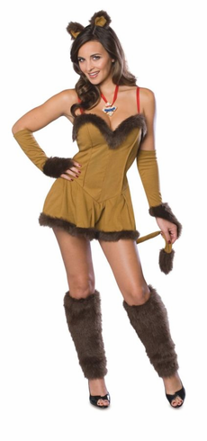 WIZARD OF OZ COWARDLY LIONESS ADULT COSTUME