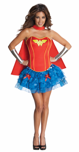 WONDER WOMAN ADULT FLIRTY COSTUME