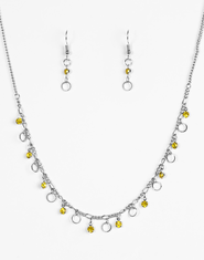 Yellow Dinner Party Demure Necklace