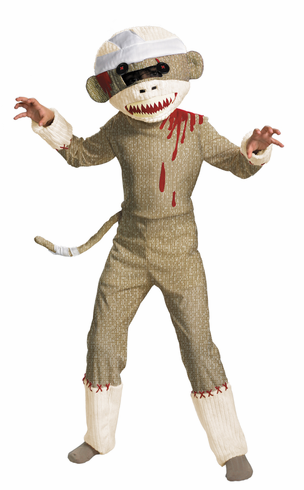 ZOMBIE SOCK MONKEY CHILD COSTUME