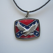 New Jeansfrend Western Eagle Flag Metal Pendant Charm Necklace
