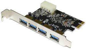 4-Port SuperSpeed USB 3.0 PCI-Express Controller Card