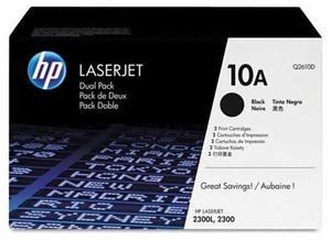HP Q2610D - Black 6000 Yield # 10A Toner Cartridge Dual Pack