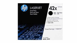HP Q5942XD - Black 20000 Yield # 42X Toner Cartridge Dual Pack