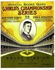 1911 World Series New York Giants vs Oakland A's Poster