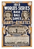 1913 World Series Philadelphia Athletics vs New York Giants Poster