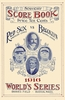 1916 WORLD SERIES Boston Red Sox vs Brooklyn Dodgers Poster