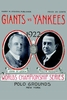 1922 World Series Poster New York Giants vs New York Yankees