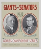 1924 World Series Washington Senators vs New York Giants Poster
