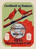 1926 World Series St Louis Cardinals vs New York Yankees Poster