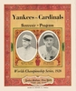 1928 World series New York Yankees vs St Louis Cardinals poster