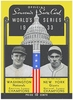 1933 World Series New York Giants vs Washington Nationals  Poster