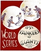 1937 World Series Poster New York  Yankees vs New York Giants poster