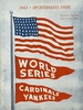 1942 WORLD SERIES St Louis Cardinals vs New York Yankees Poster