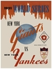 1951 WORLD SERIES New York Giants vs New York Yankees Poster