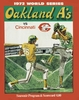 1972 World Series Oakland A's vs Cincinnati Reds Poster