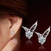 Angel Wings Crystal Ear Stud Earrings Jewelry