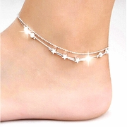 Ankle Stars and Bangles Double Chains Anklet Jewelry