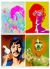 The Beatles Psychedelic Poster