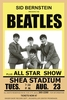 1964 The Beatles Concert Poster Shea Stadium NY