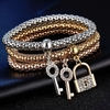 3 pcs/Set Crystal Bracelet & Bangle Bracelet jewelry
