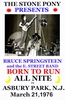 Bruce Springsteen Concert 1976 Poster New Jersey