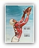 Chicago Bears 1956 Football Program Poster