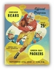 Chicago Bears 1959 Football Program Poster