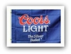 Coors Light Beer Flag Sign  Ships Free