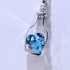 Crystal Blue Heart Pendant Necklace