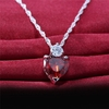 Crystal Heart & Zirconia Necklace