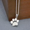 Cute Dogs Footprints Paw Silver Pendant Necklace