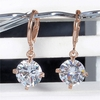 Dazzling  Zircon Golden  Pendant Earrings