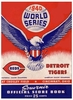 1940 World Series Detroit Tigers vs Cincinnati Reds poster