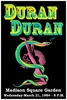 Duran Duran Concert Poster 1984 Madison Square Garden NYC