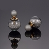 Earrings Silver Glass Beads Stud Earrings